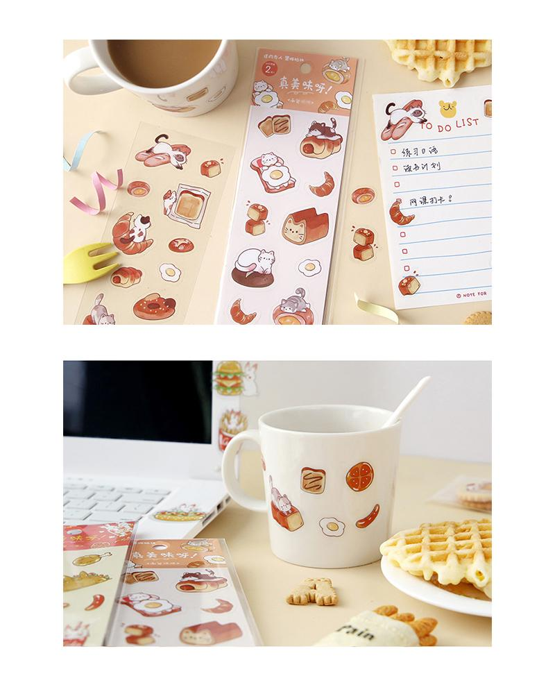 cardlover so delicious food pvc clear stickers various styles and designs all inspired by cute snacks bread and fast food versions