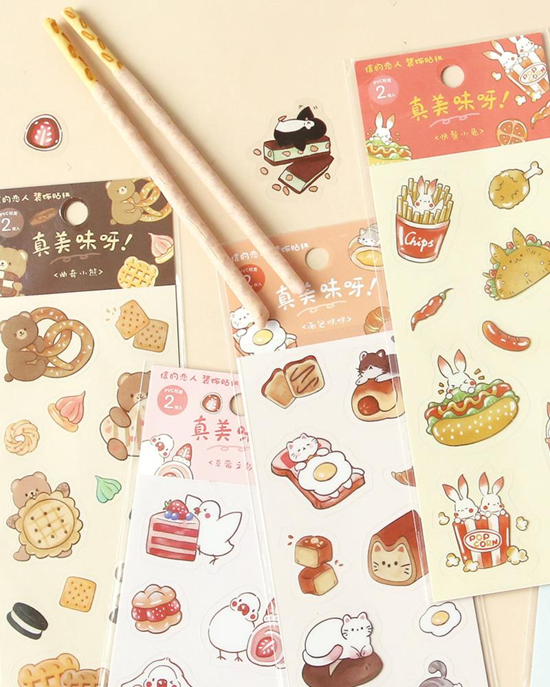 cardlover so delicious food pvc clear stickers various styles and designs all inspired by cute snacks
