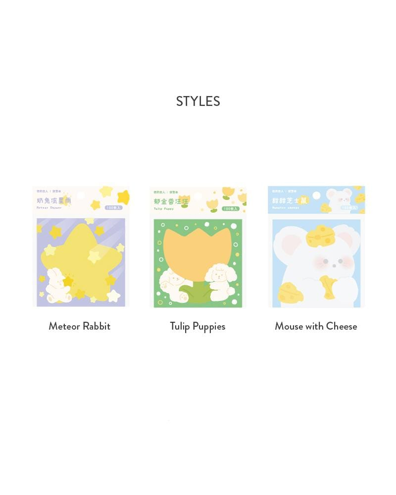 shop cardlover forest party vol. 2 assorted notepads 3 styles