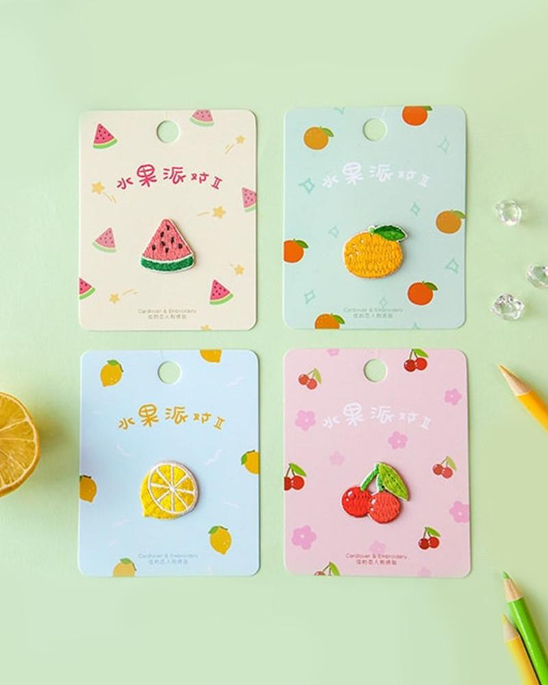 buy shop cardlover fruit fiesta party volume vol 2 watermelon orange lemon cherry cute embroidered patches assorted styles designs