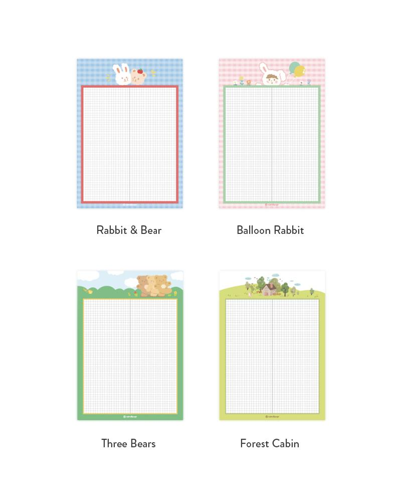 shop cardlover grid notepads 4 styles