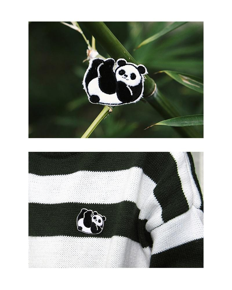 shop cardlover hanging out embroidered pins panda bear