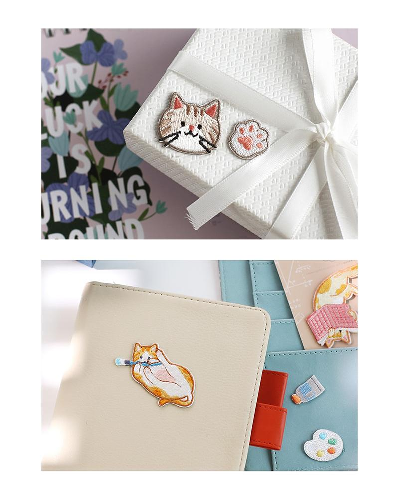 buy cardlover journal cat embroidered patches