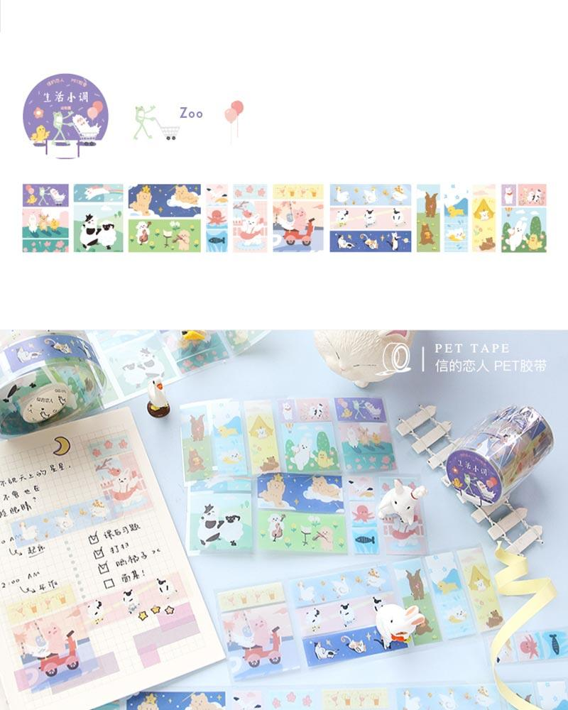 buy shop cardlover little life special material masking tape washi PET colourful assorted patterns designs zoo animals