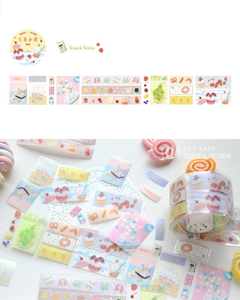buy shop cardlover little life special material masking tape washi PET colourful assorted patterns designs snack store sweets dessert