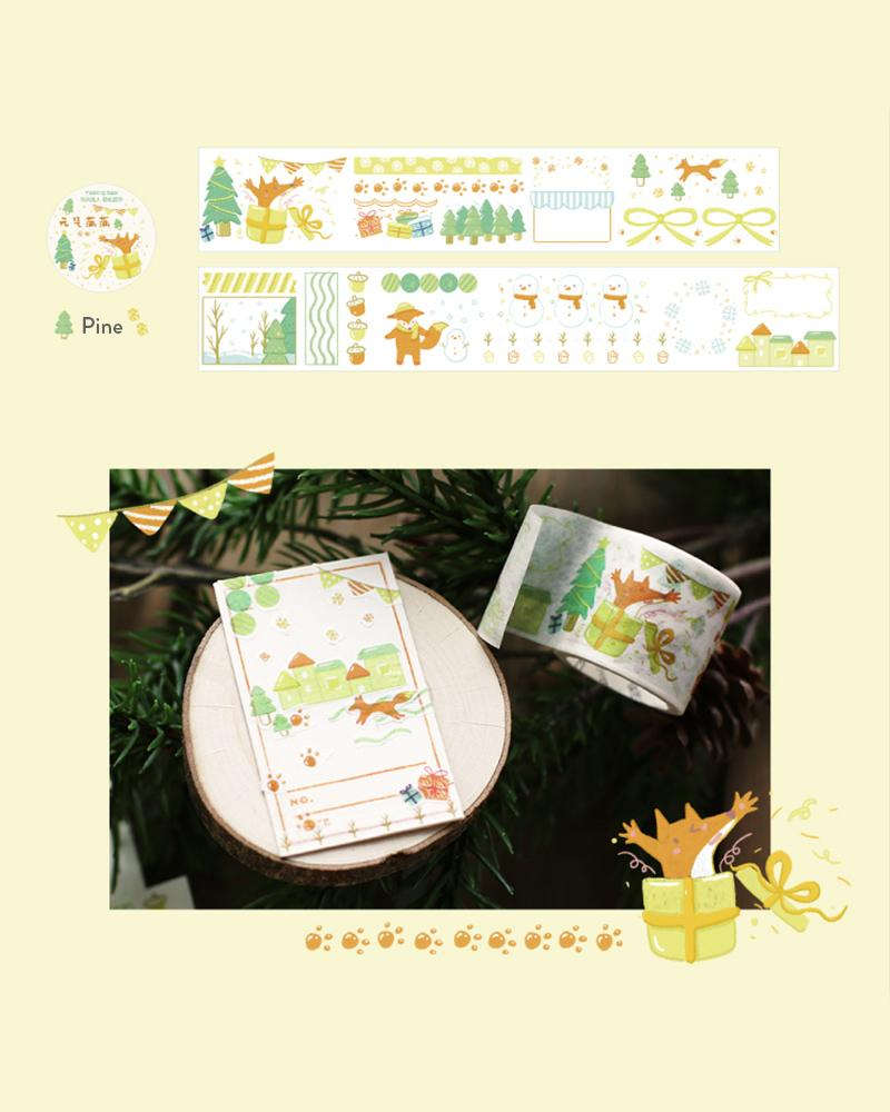 shop buy cardlover living life washi masking tape assorted cute colours designs pine trees
