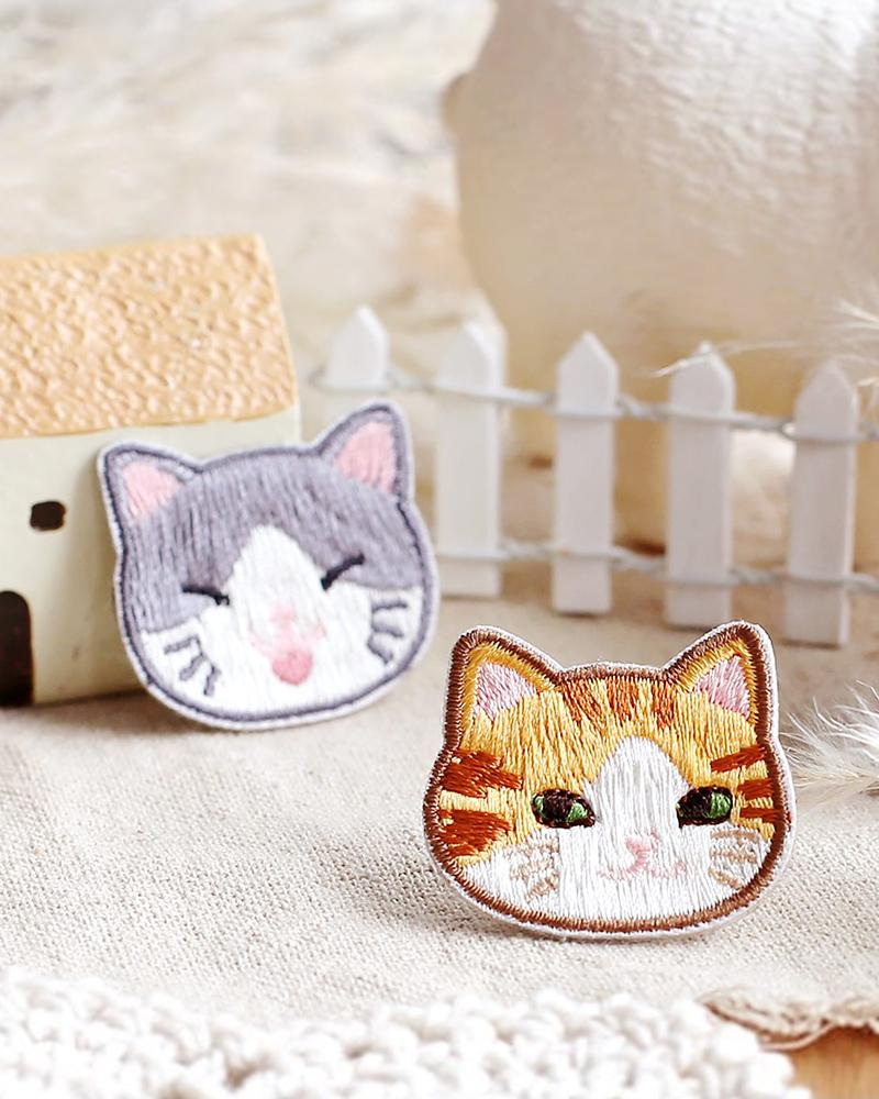 buy shop meow family cat kitten embroidered patch cute assorted styles designs