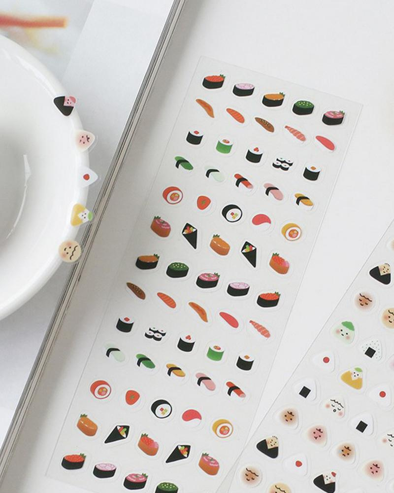 cardlover mini life volume 2 decorative clear stickers sushi and onigiri pack