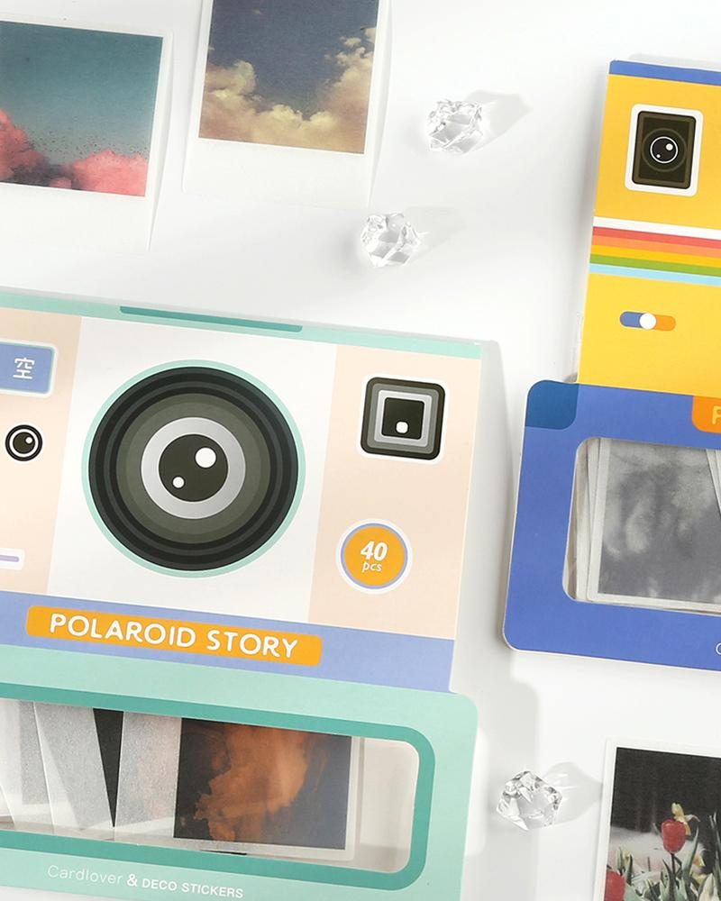 cardlover vintage polaroid sticker packs packaging with various styles and designs