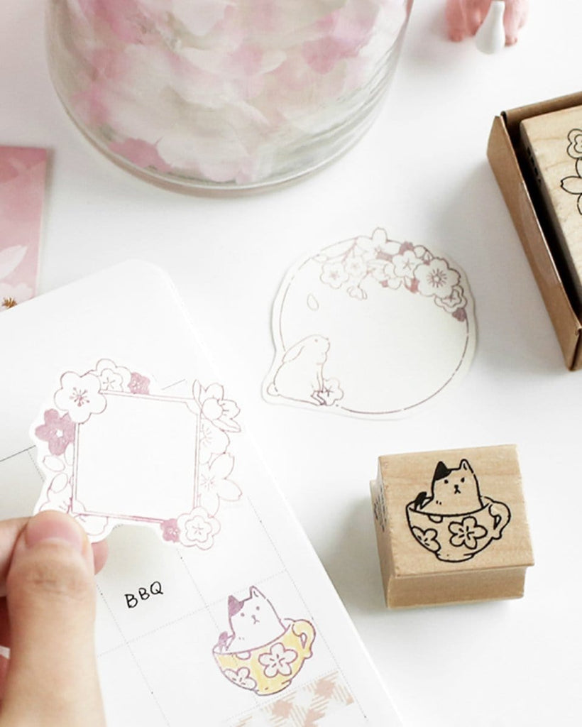 shop cardlover sakura wooden rubber stamps set of 4