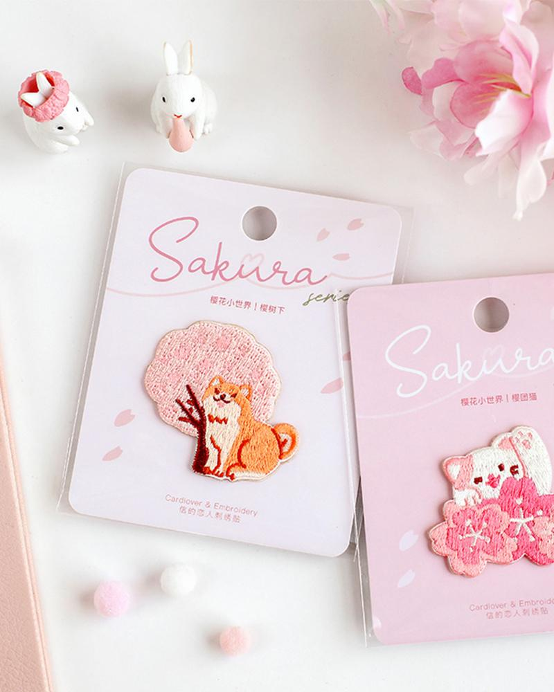 shop buy cardlover sakura season embroidered patch assorted cute designs styles