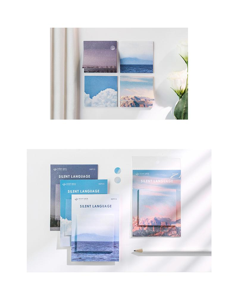 buy shop cardlover silent language sticky notes landscape scenery assorted colours styles