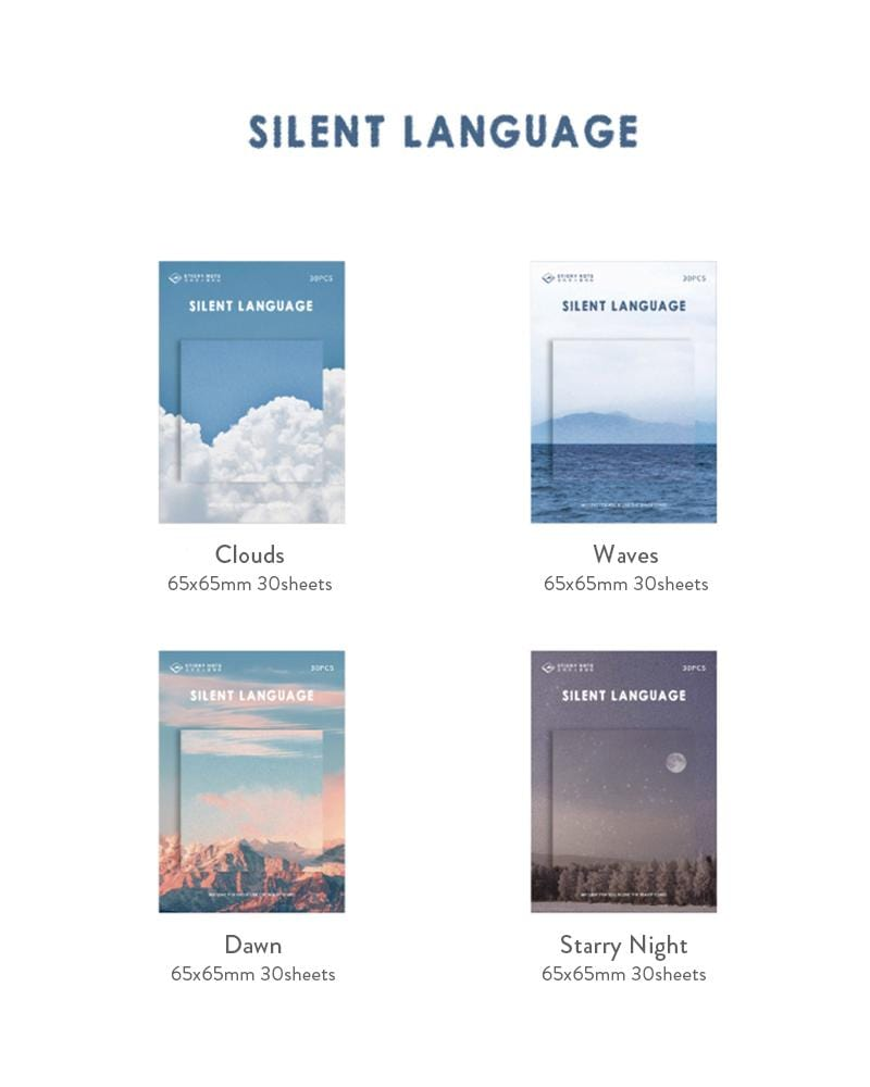 buy shop cardlover silent language sticky notes landscape scenery assorted colours styles  clouds waves dawn starry night