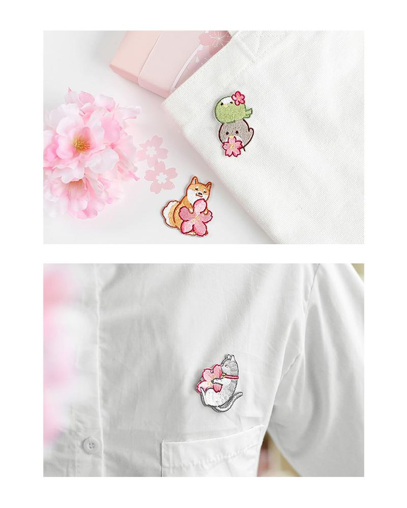 shop cardlover under the sakura tree embroidered patches