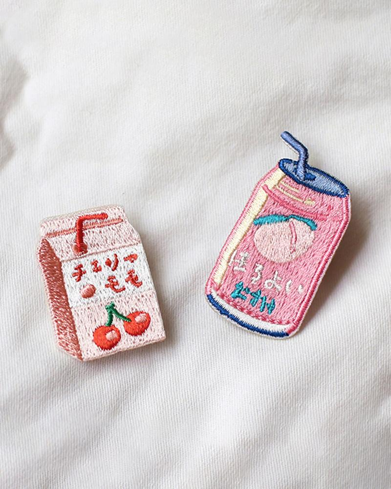 shop cardlover vending machine snacks embroidered pins cherry juice peach beer