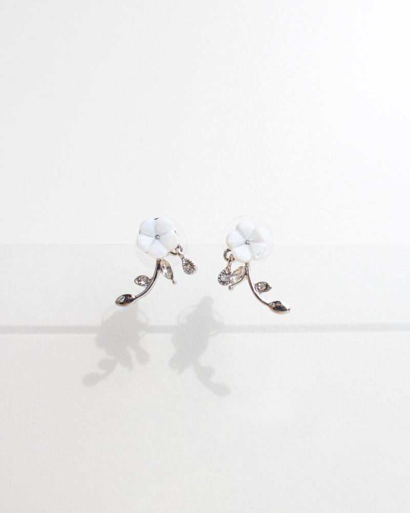 Shop Dainty White Flower Stud Earrings