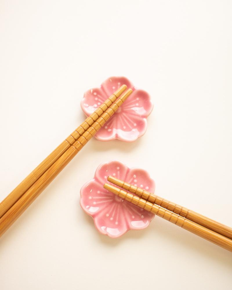 Japanese Pattern Bamboo Chopsticks closeup