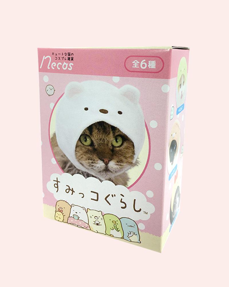 box features a cat wearing a Shirokuma cap.