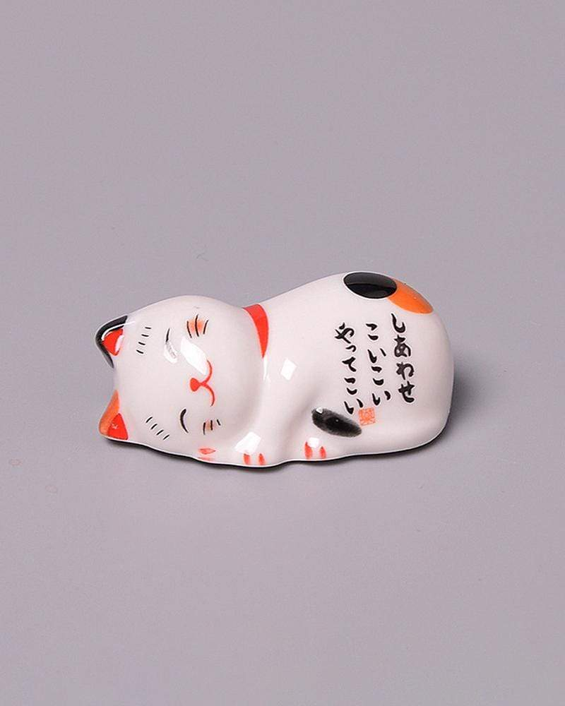 Shop Lucky Cat Chopstick Holder - lying