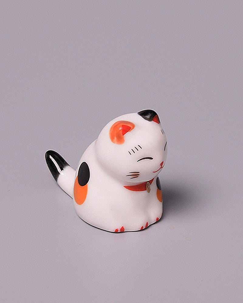 Shop Lucky Cat Chopstick Holder - sitting