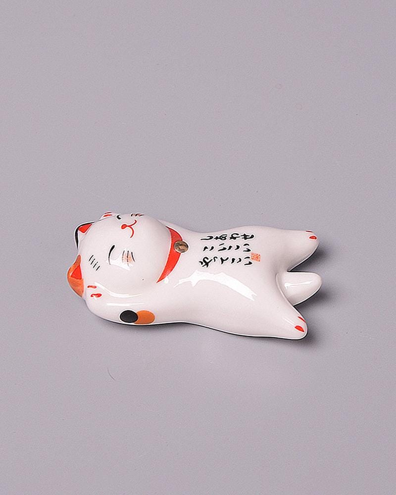 Shop Lucky Cat Chopstick Holder - tanning