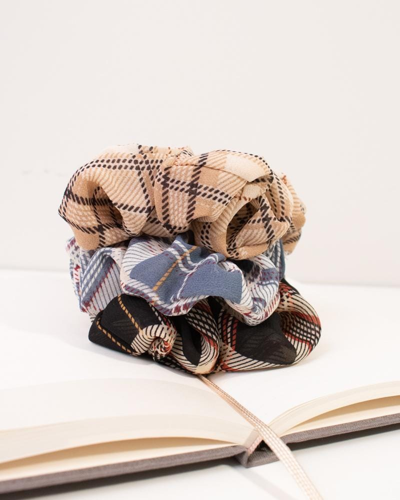 Shop Modern Plaid Scrunchies in various colours