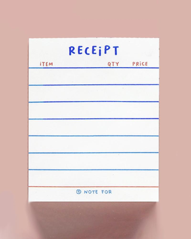 NOTE FOR Everyday Notepad – mini receipt