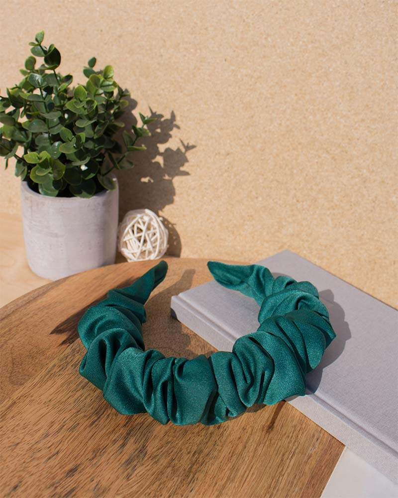 Satin Ruffle Headband