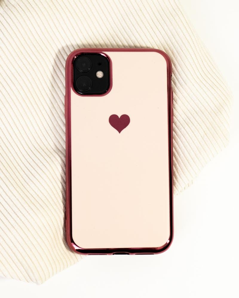 Shop Shiny Heart iPhone Case Pink