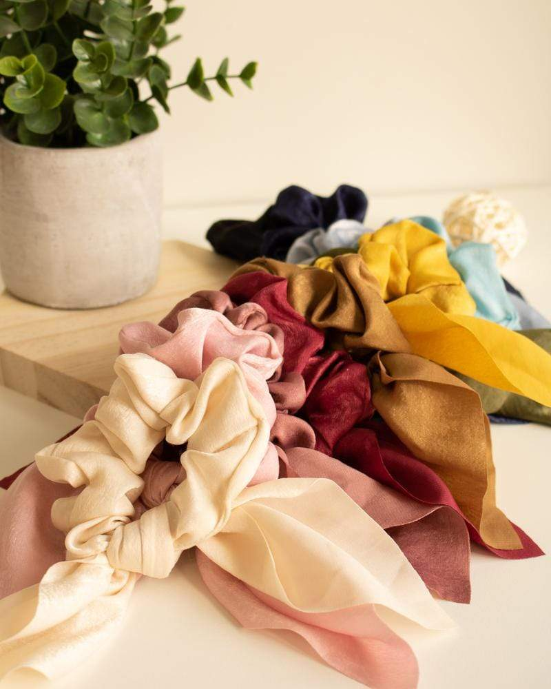 Shop Silk Bow-Tie Scrunchies - all colours