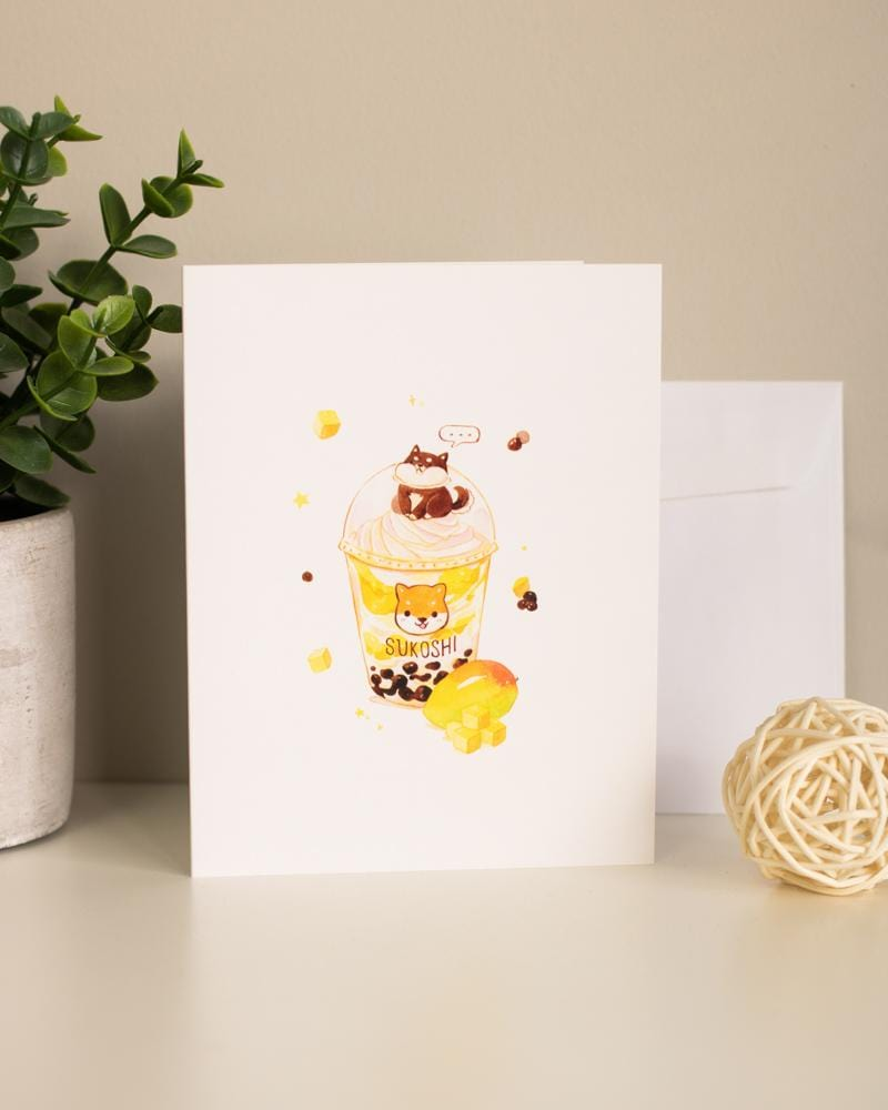 Shop SUKOSHI x PENELOPE Shiba's Drink Greeting Card