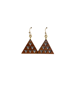 Mauna Triangles Koa Earrings