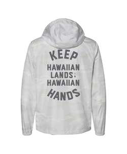Keep Hawaiian Lands in Hawaiian Hands White Camo Jacket