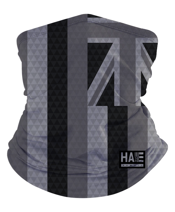Black and White Triangles Hae Hawaii Gaiter Mask
