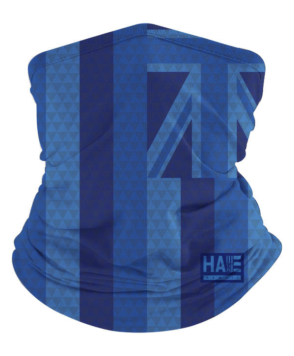 Blue Hae Hawaii Triangles Gaiter Mask