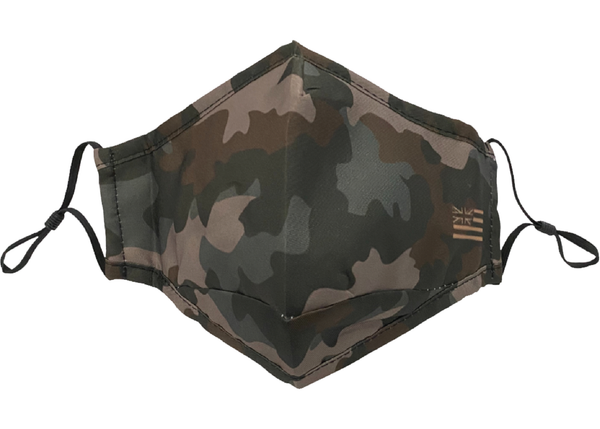Green Camo Adjustable Face Mask