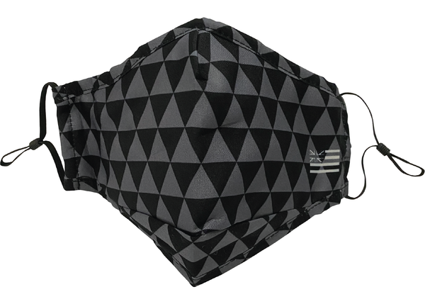 Gray Triangles Adjustable Face Mask