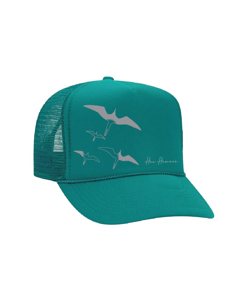 Iwa Birds Trucker Hat Teal