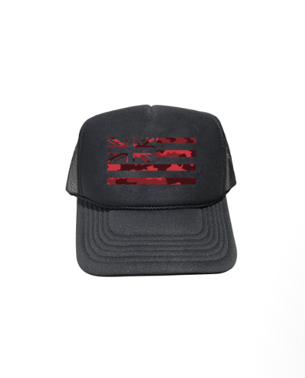 Red Camo Hae Hawaii Trucker Hat
