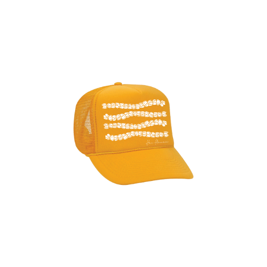 Pikake Trucker Hat Goldenrod