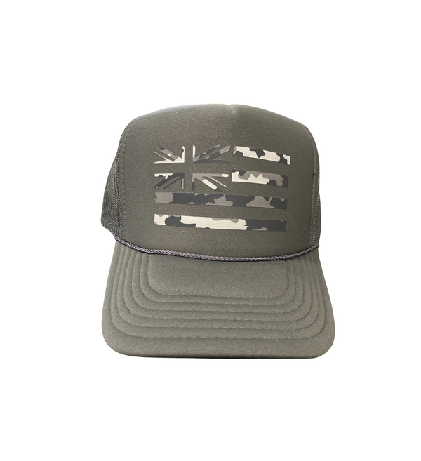 Gray Camo Hae Hawaii Trucker Hat