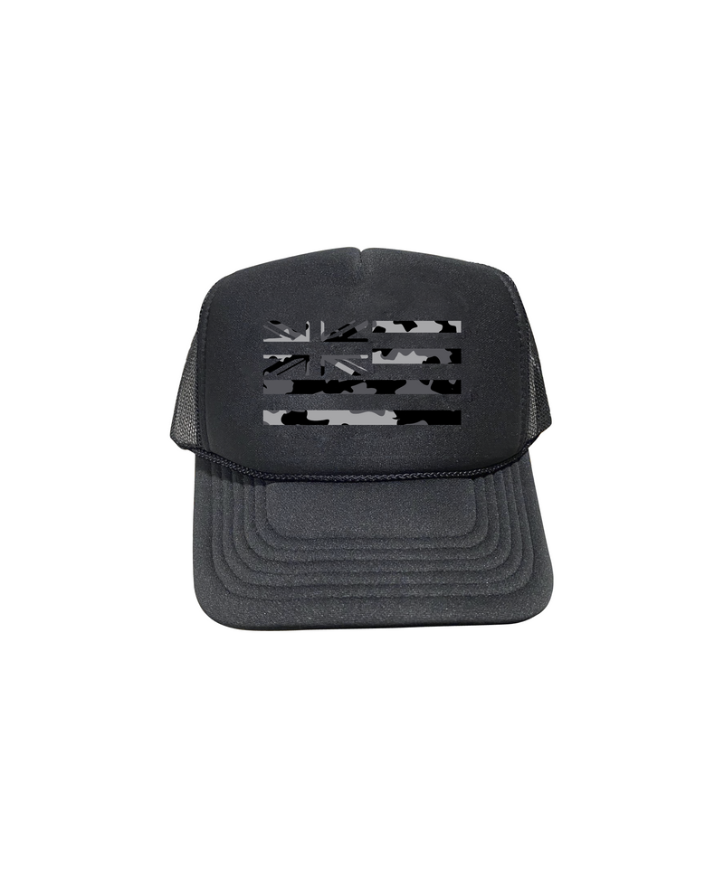Black and White Camo Hae Hawaii Trucker Hat