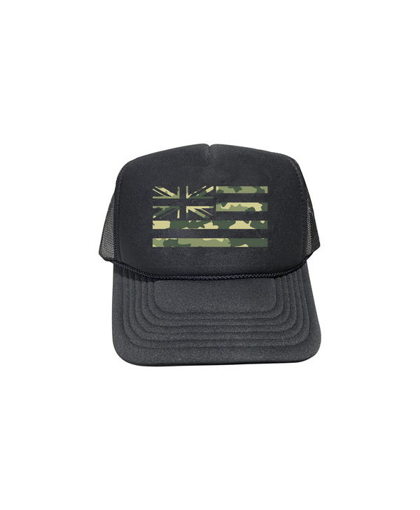 Green Camo Hae Hawaii Trucker Hat