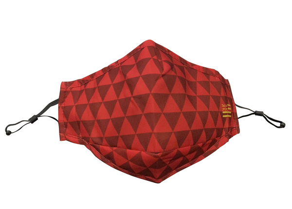 Red Triangles Adjustable Face Mask
