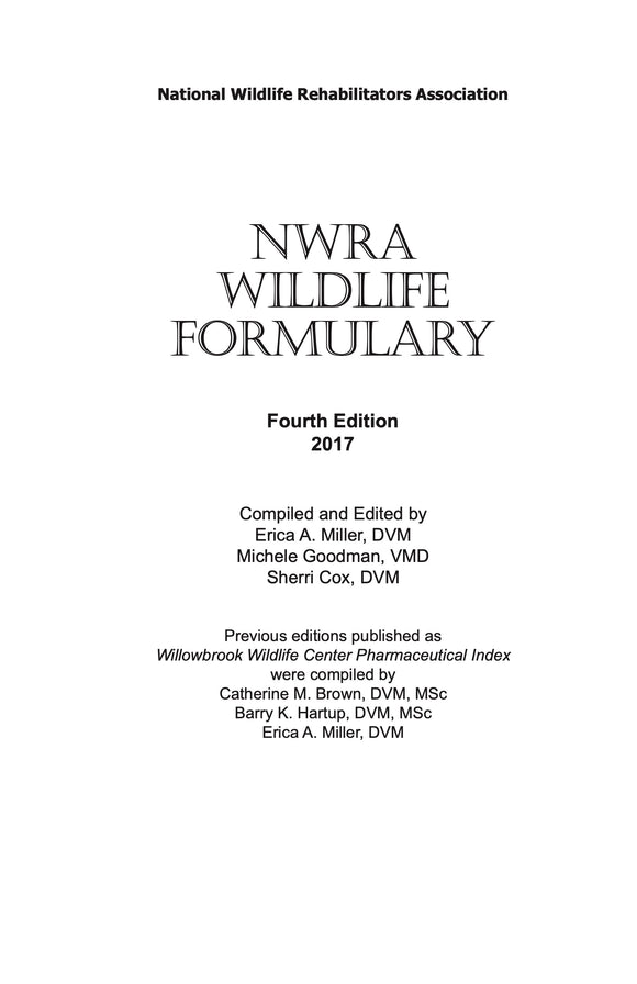 NWRA Wildlife Formulary