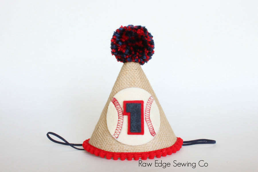 Baseball Hat First Birthday - Raw Edge Sewing Co