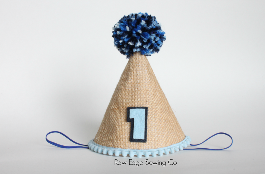 Blue Truck Hat First Birthday - Raw Edge Sewing Co
