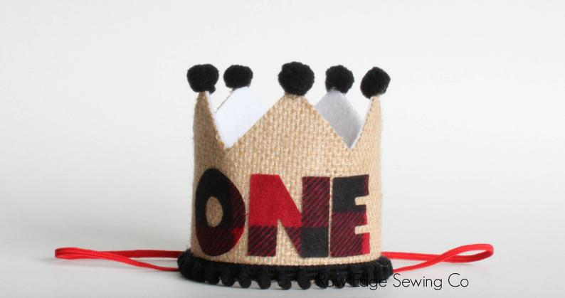 Lumberjack Birthday Crown