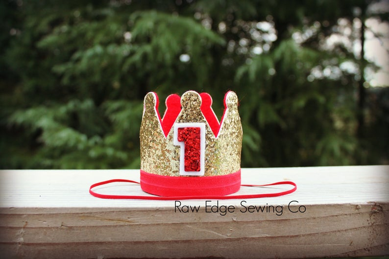 Gold Christmas Birthday Crown