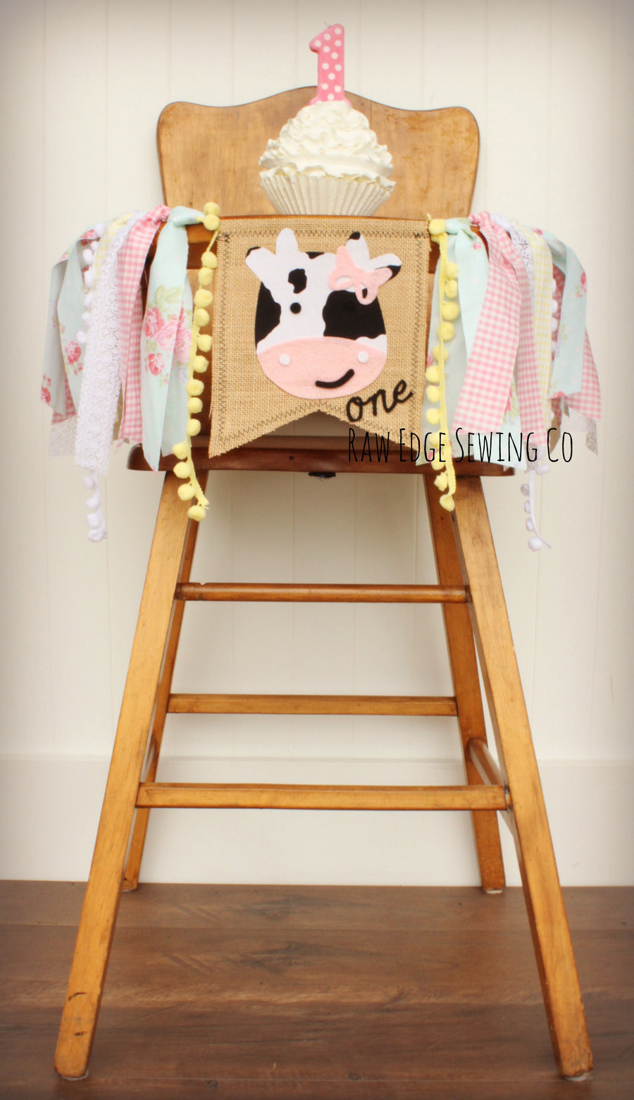 Farm Highchair Banner 1st Birthday Party Decoration